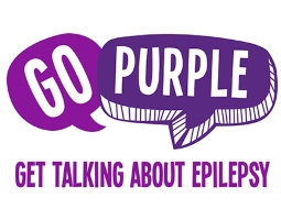 Go purple - Get talking about epilapsy sign